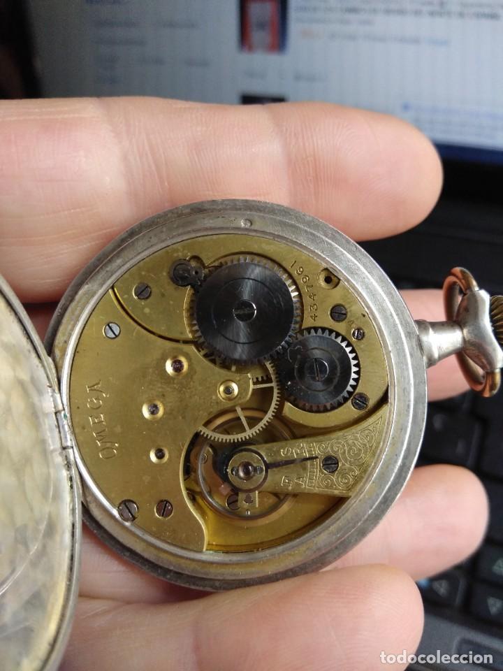 Relojes de bolsillo: Reloj de bolsillo OMEGA de plata, Grand Prix Paris 1900 - Foto 9 - 246057460