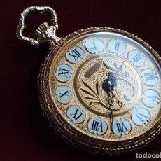 Relojes de bolsillo: COLGANTE DE RELOJ(POCKET WATCH) BEL ART ART NOUVEAU VINTAGE, RUTINA. Lote 246112335