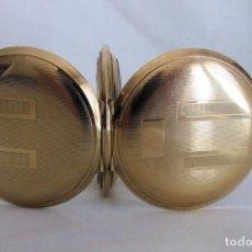 Relojes de bolsillo: RELOJ DE BOLSILLO MUY BONITO ART DECO 1930 DOUBLE GOLD SABONETA. Lote 262440960