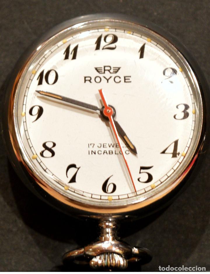Relojes de bolsillo: PEQUEÑO RELOJ DE BOLSILLO SUIZO ROYCE COLGANTE AUTOMATICO Y CARGA MANUAL 17 RUBIS INCABLOC - Foto 12 - 246334845