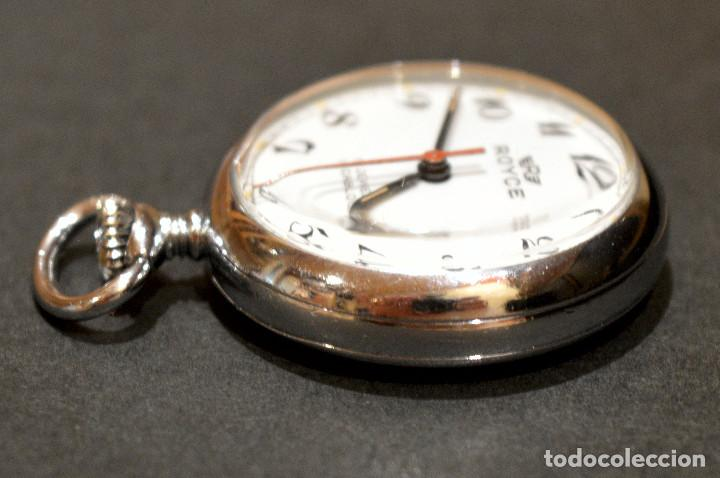 Relojes de bolsillo: PEQUEÑO RELOJ DE BOLSILLO SUIZO ROYCE COLGANTE AUTOMATICO Y CARGA MANUAL 17 RUBIS INCABLOC - Foto 5 - 246334845
