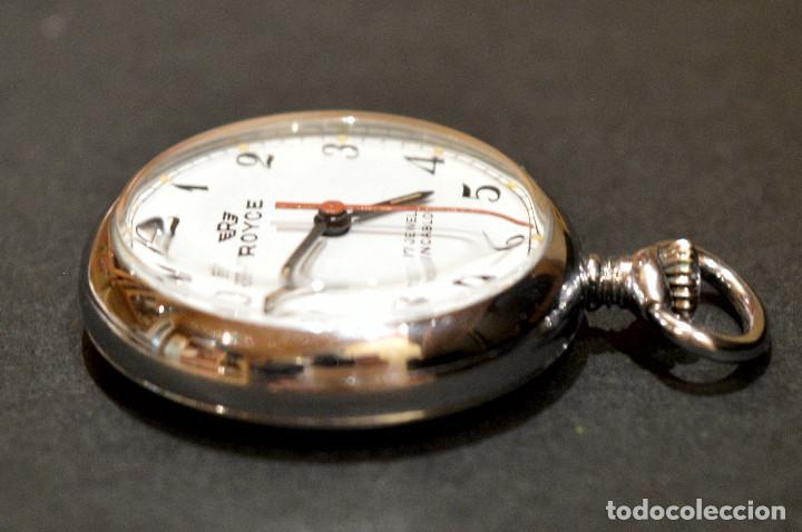 Relojes de bolsillo: PEQUEÑO RELOJ DE BOLSILLO SUIZO ROYCE COLGANTE AUTOMATICO Y CARGA MANUAL 17 RUBIS INCABLOC - Foto 6 - 246334845