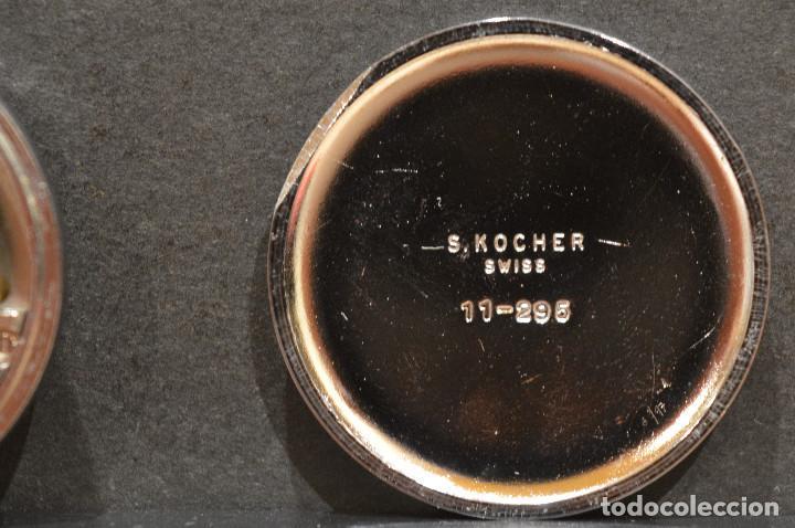 Relojes de bolsillo: PEQUEÑO RELOJ DE BOLSILLO SUIZO ROYCE COLGANTE AUTOMATICO Y CARGA MANUAL 17 RUBIS INCABLOC - Foto 11 - 246334845