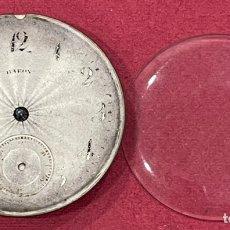 Relojes de bolsillo: ANTIGUA MAQUINARIA DE RELOJ DE BOLSILLO. FUNCIONA.. Lote 246451450