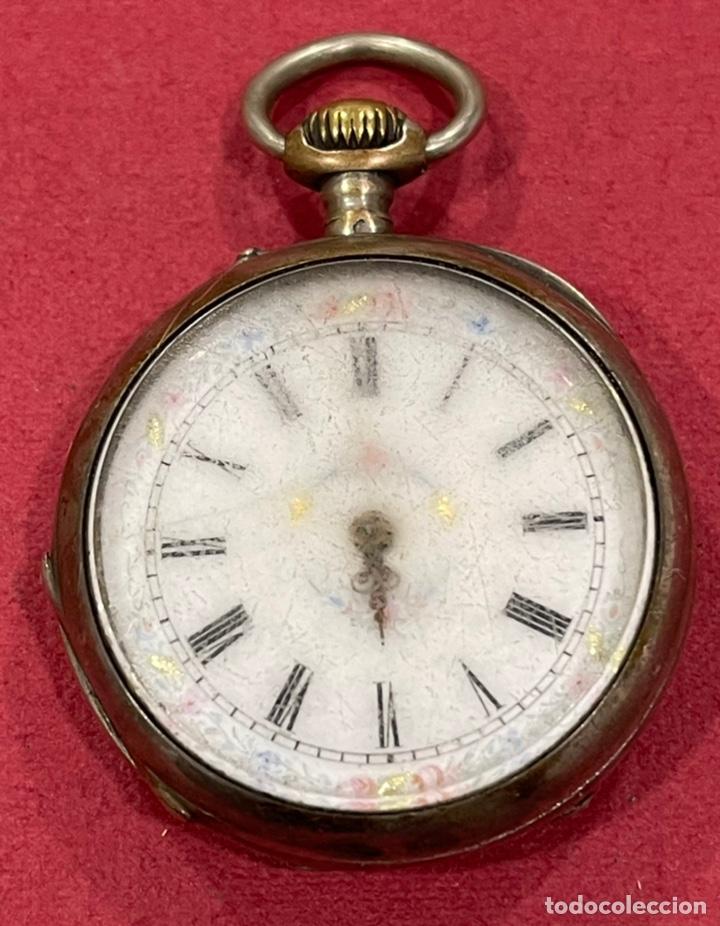 Relojes de bolsillo: Antiguo reloj de bolsillo de plata. S.XIX - Foto 2 - 246733215
