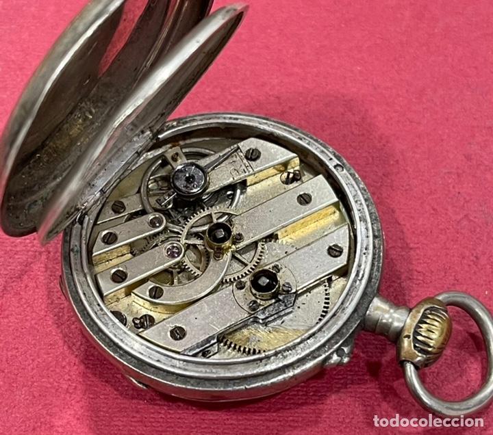 Relojes de bolsillo: Antiguo reloj de bolsillo de plata. S.XIX - Foto 6 - 246733215
