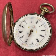 Relojes de bolsillo: ANTIGUO RELOJ DE BOLSILLO DE PLATA. S.XIX. Lote 246733215