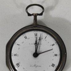 Relojes de bolsillo: MAGNIFICO RELOJ DE BOLSILLO RUSO - MANUFACTURADO POR PETER NORDESTEEN (MOSCÚ) - PLATA - AÑO 1790. Lote 247168685