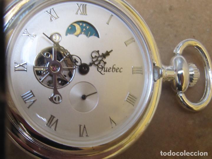 Relojes de bolsillo: RELOJ DE BOLSILLO DE CUERDA CON FASE LUNAR - Foto 2 - 247613505