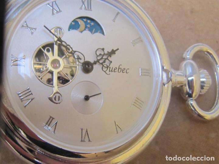 Relojes de bolsillo: RELOJ DE BOLSILLO DE CUERDA CON FASE LUNAR - Foto 3 - 247613505