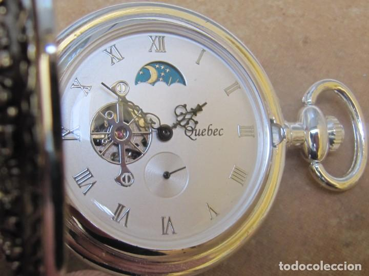 Relojes de bolsillo: RELOJ DE BOLSILLO DE CUERDA CON FASE LUNAR - Foto 4 - 247613505