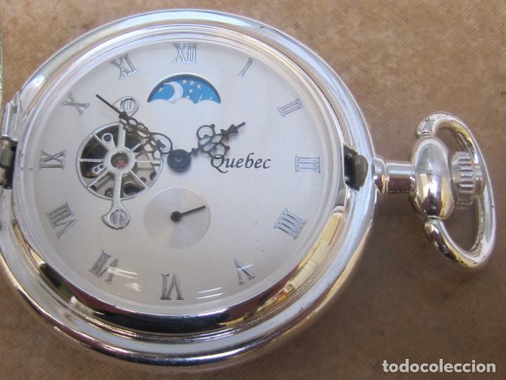 Relojes de bolsillo: RELOJ DE BOLSILLO DE CUERDA CON FASE LUNAR - Foto 5 - 247613505