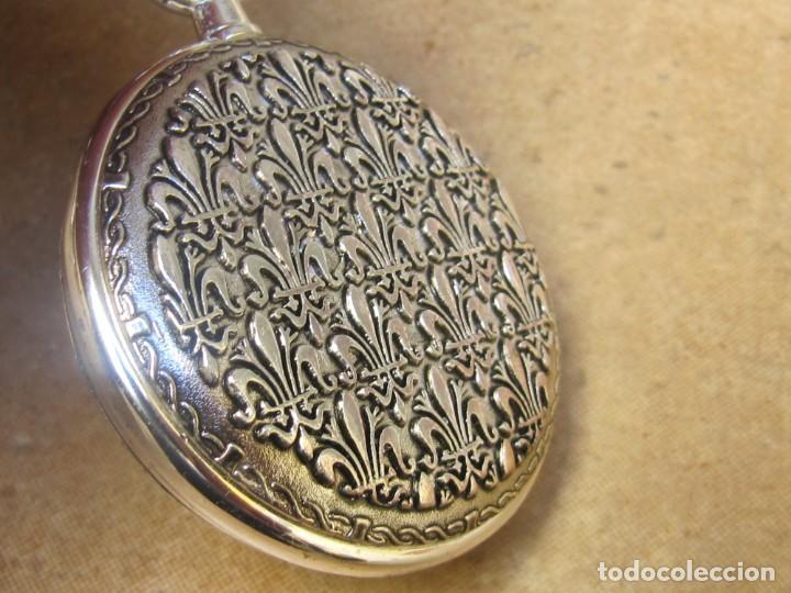 Relojes de bolsillo: RELOJ DE BOLSILLO DE CUERDA CON FASE LUNAR - Foto 6 - 247613505