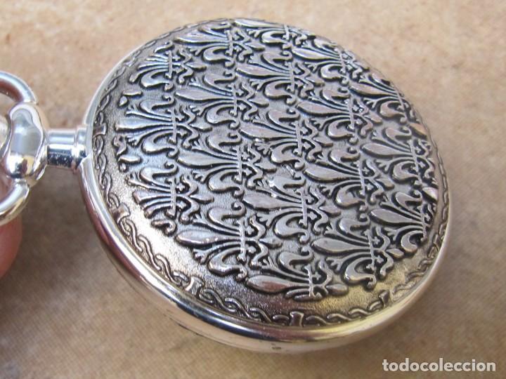 Relojes de bolsillo: RELOJ DE BOLSILLO DE CUERDA CON FASE LUNAR - Foto 10 - 247613505