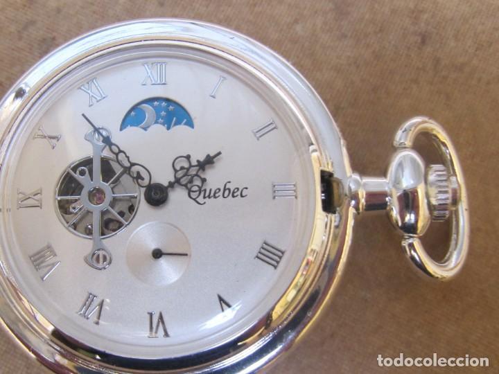 Relojes de bolsillo: RELOJ DE BOLSILLO DE CUERDA CON FASE LUNAR - Foto 14 - 247613505