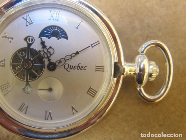 Relojes de bolsillo: RELOJ DE BOLSILLO DE CUERDA CON FASE LUNAR - Foto 17 - 247613505