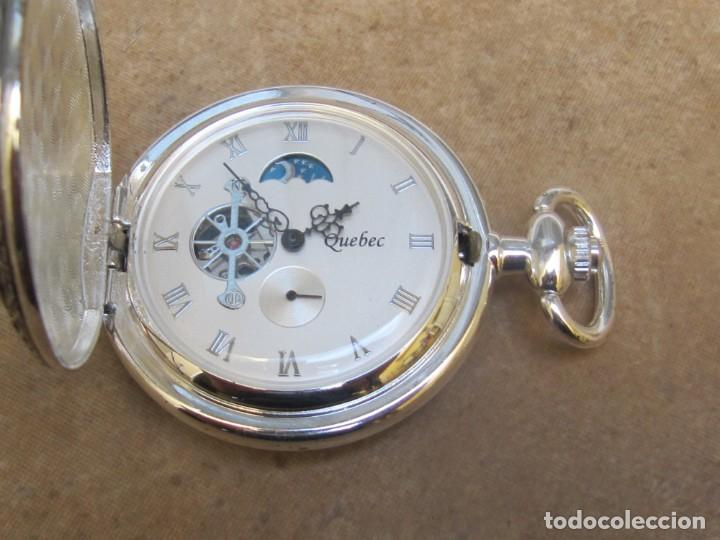 Relojes de bolsillo: RELOJ DE BOLSILLO DE CUERDA CON FASE LUNAR - Foto 18 - 247613505