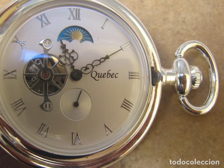 Relojes de bolsillo: RELOJ DE BOLSILLO DE CUERDA CON FASE LUNAR - Foto 19 - 247613505
