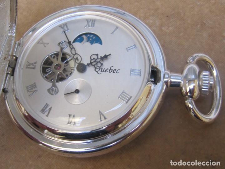 Relojes de bolsillo: RELOJ DE BOLSILLO DE CUERDA CON FASE LUNAR - Foto 20 - 247613505