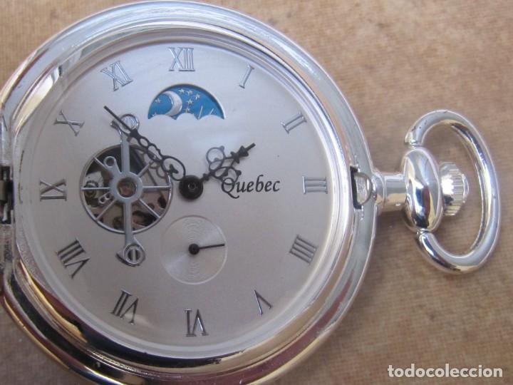 Relojes de bolsillo: RELOJ DE BOLSILLO DE CUERDA CON FASE LUNAR - Foto 21 - 247613505