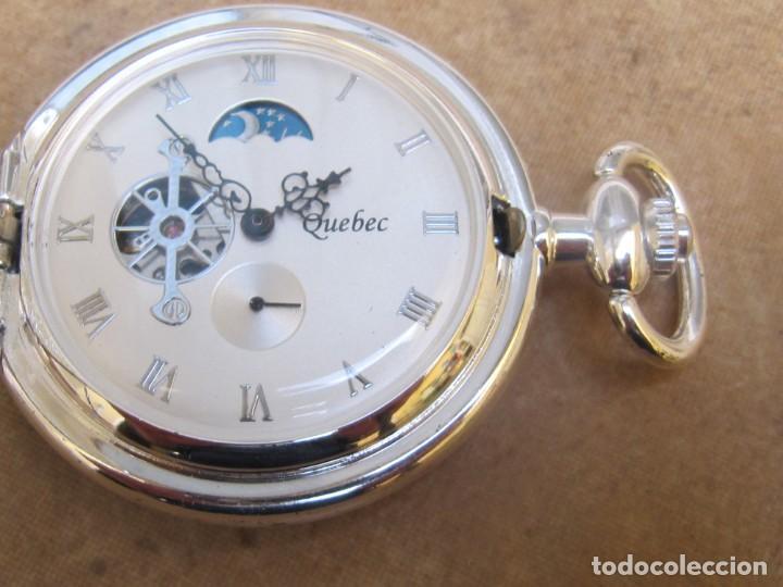 Relojes de bolsillo: RELOJ DE BOLSILLO DE CUERDA CON FASE LUNAR - Foto 22 - 247613505
