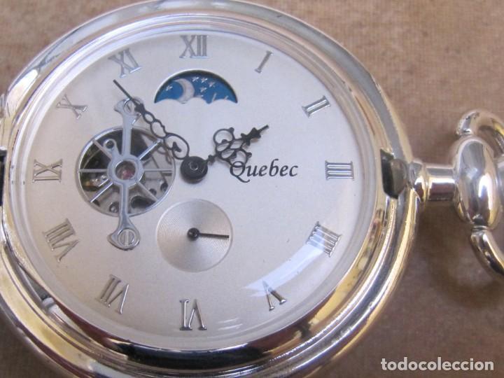 RELOJ DE BOLSILLO DE CUERDA CON FASE LUNAR (Relojes - Bolsillo Carga Manual)