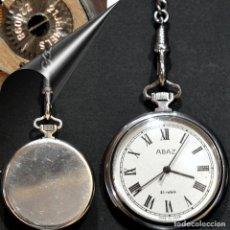Relojes de bolsillo: RELOJ DE BOLSILLO ABAD URSS 21 RUBIS RUSIA CON LEONTINA AUTOMATICO Y CARGA MANUAL. Lote 247618265