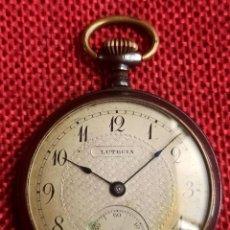 Relojes de bolsillo: RELOJ DE BOLSILLO CARGA MANUAL LUTECIA - FUNCIONANDO - MADE IN SWISS -. Lote 247659345