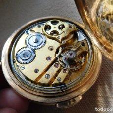Relojes de bolsillo: RELOJ DE BOLSILLO CON SONERIA A MINUTOS DE LA MARCA INVICTA ORO 18K AÑO 1890 APROX.. Lote 247709980