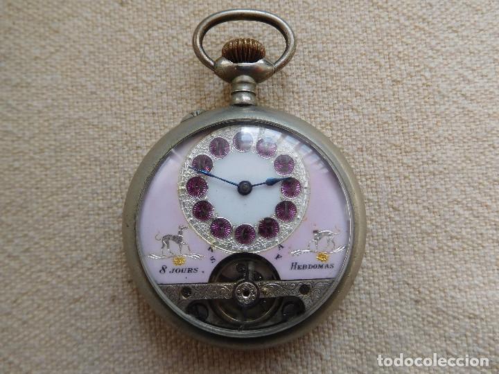 Relojes de bolsillo: Reloj de bolsillo 8 días cuerda de la marca Hebdomas - Foto 3 - 247711100