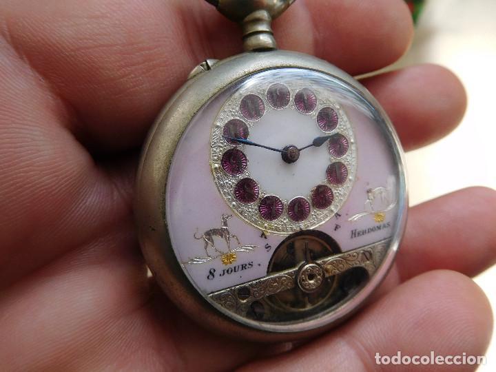 RELOJ DE BOLSILLO 8 DÍAS CUERDA DE LA MARCA HEBDOMAS (Relojes - Bolsillo Carga Manual)