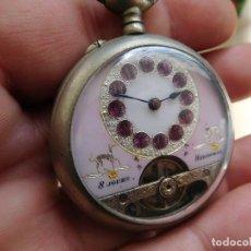 Relojes de bolsillo: RELOJ DE BOLSILLO 8 DÍAS CUERDA DE LA MARCA HEBDOMAS. Lote 247711100
