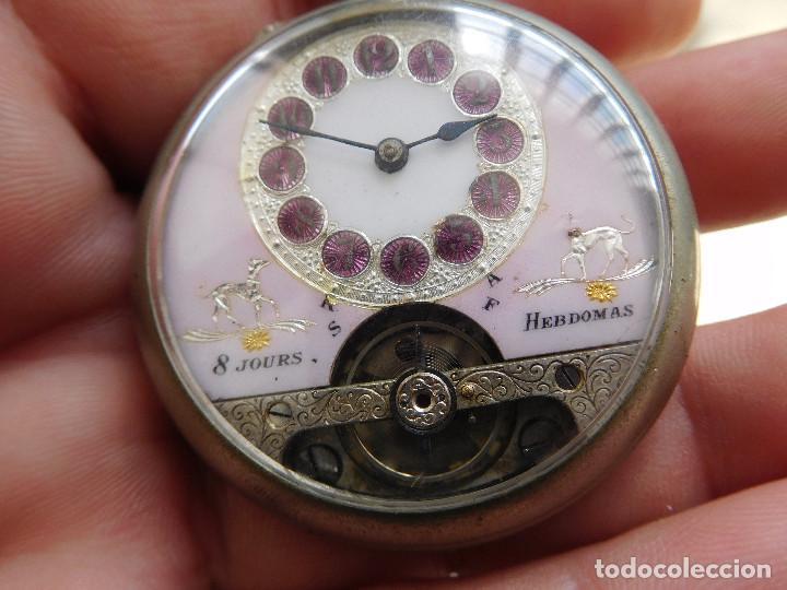 Relojes de bolsillo: Reloj de bolsillo 8 días cuerda de la marca Hebdomas - Foto 4 - 247711100