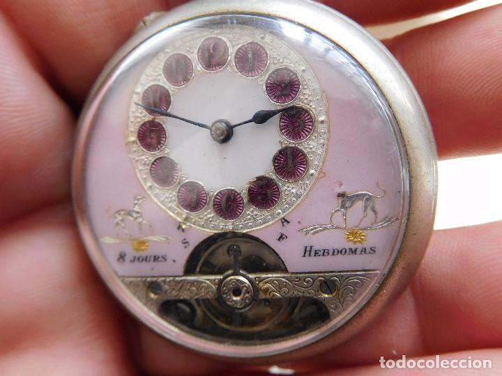 Relojes de bolsillo: Reloj de bolsillo 8 días cuerda de la marca Hebdomas - Foto 2 - 247711100