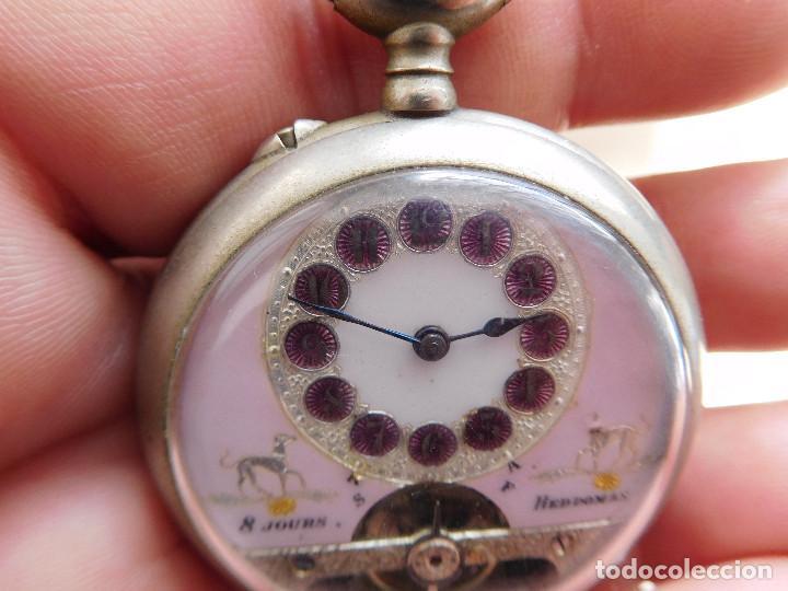 Relojes de bolsillo: Reloj de bolsillo 8 días cuerda de la marca Hebdomas - Foto 5 - 247711100