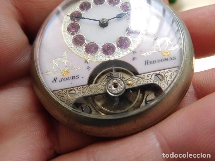 Relojes de bolsillo: Reloj de bolsillo 8 días cuerda de la marca Hebdomas - Foto 6 - 247711100
