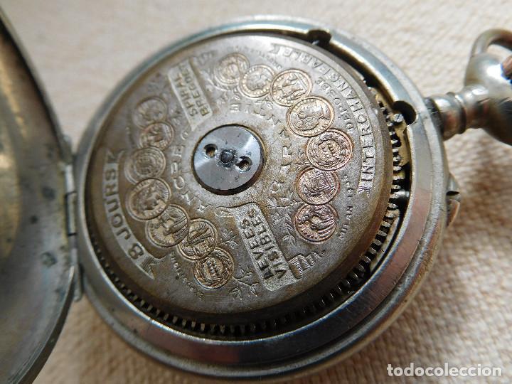 Relojes de bolsillo: Reloj de bolsillo 8 días cuerda de la marca Hebdomas - Foto 18 - 247711100