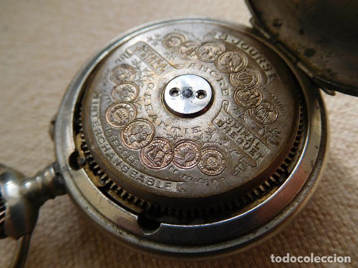 Relojes de bolsillo: Reloj de bolsillo 8 días cuerda de la marca Hebdomas - Foto 19 - 247711100