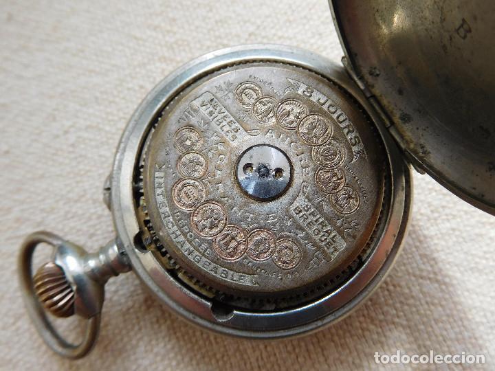 Relojes de bolsillo: Reloj de bolsillo 8 días cuerda de la marca Hebdomas - Foto 20 - 247711100