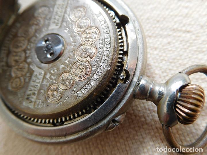 Relojes de bolsillo: Reloj de bolsillo 8 días cuerda de la marca Hebdomas - Foto 21 - 247711100