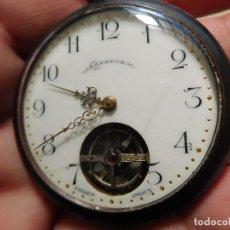 Relojes de bolsillo: RELOJ DE BOLSILLO VOLANTE VISTO DE LA MARCA BONHEUR 1900 APROX.. Lote 247719125