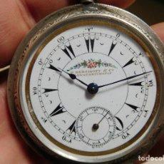 Relojes de bolsillo: RELOJ DE BOLSILLO CON ESFERA TURCA DE LA MARCA K. SERKISOFF & CO. BILLODES PLATA AÑO 1880 APROX.. Lote 247765545