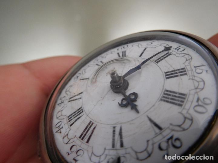 Relojes de bolsillo: Reloj de bolsillo catalino ingles Jones John con chichonera repujada plata año 1780 aprox. - Foto 8 - 247978135