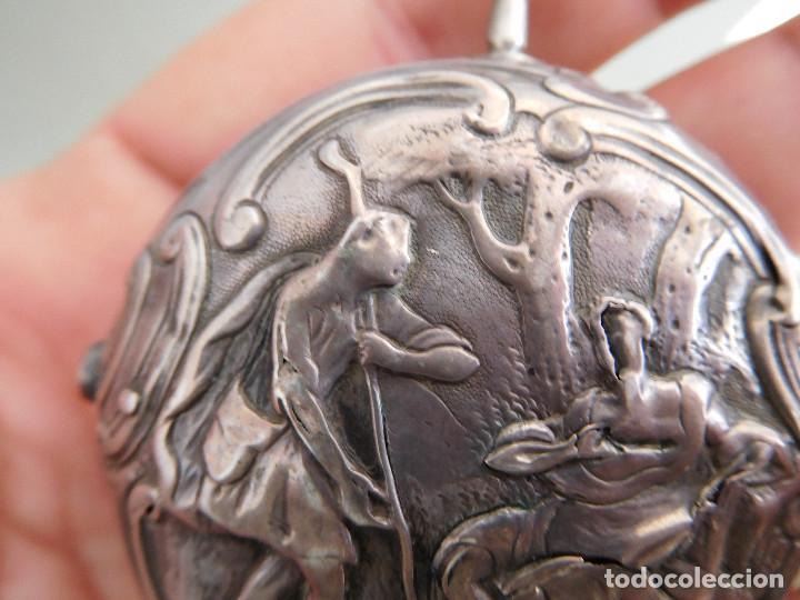 Relojes de bolsillo: Reloj de bolsillo catalino ingles Jones John con chichonera repujada plata año 1780 aprox. - Foto 23 - 247978135