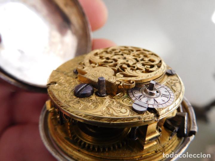 Relojes de bolsillo: Reloj de bolsillo catalino ingles Jones John con chichonera repujada plata año 1780 aprox. - Foto 55 - 247978135
