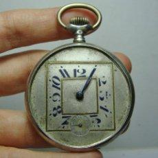 Relojes de bolsillo: ANTIGUO RELOJ DE BOLSILLO. CARGA MANUAL. PLATA (CON CONTRASTES). Lote 248070490