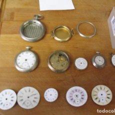 Relojes de bolsillo: GRAN LOTE DE ESFERAS -RELOJES Y MAQUINARIAS ANTIGUAS RELOJ BOLSILLO- LOTE 369. Lote 248162340