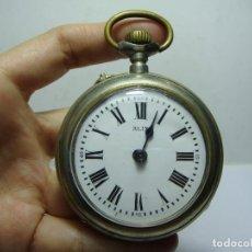 Relojes de bolsillo: RELOJ DE BOLSILLO. CARGA MANUAL. MARCA ALIX. ESFERA DE ESMALTE. (59 MM DIÁMETRO). Lote 248172870