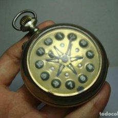 Relojes de bolsillo: RELOJ DE BOLSILLO. CARGA MANUAL. CON ESFERA DE LENTEJAS Y ESTRELLA. MAQUINARIA TRABAJADA. (57 MM). Lote 248177140