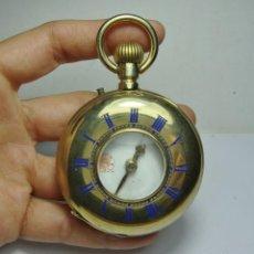 Relojes de bolsillo: RELOJ DE BOLSILLO. CARGA MANUAL. VENCEDOR. ESFERA ESMALTADA. MODELO RARO. (56 MM DIÁMETRO). Lote 248255695